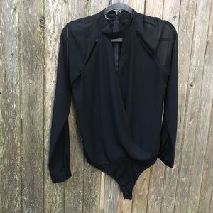 Bebe Long-sleeve Black Bodysuit